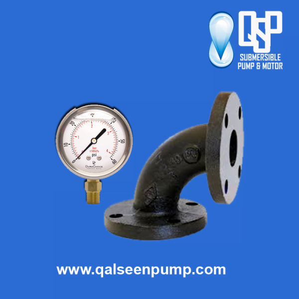 flanged-bend-pressure-gauge